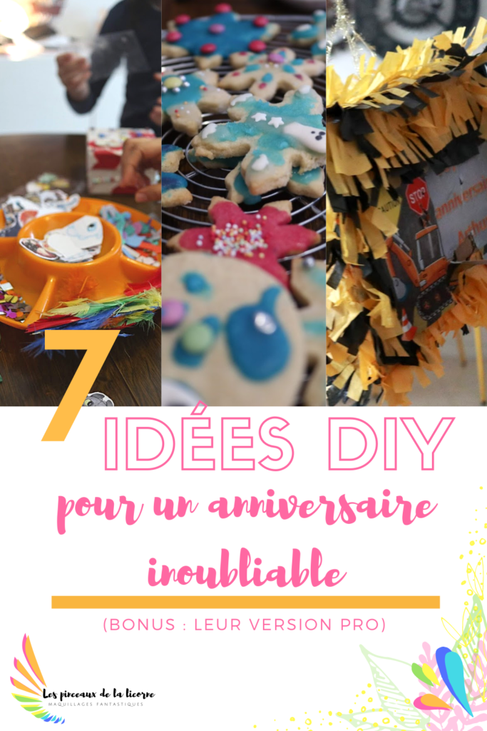 7 idées DIY pour un anniversaire inoubliable  Activité créative anniversaire, biscuits décorés enfants, pinata anniversaire facile