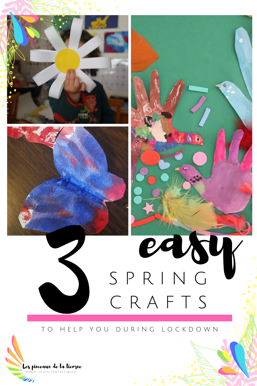 Three 3 easy spring crafts